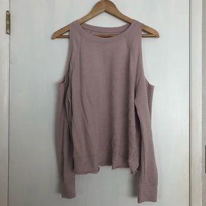 VICTORIA SPORT Cold Shoulder Sweater